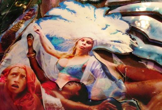 (Detail: Amanda Lepore) Raft of Illusion: Raging Toward Truth, 2011.