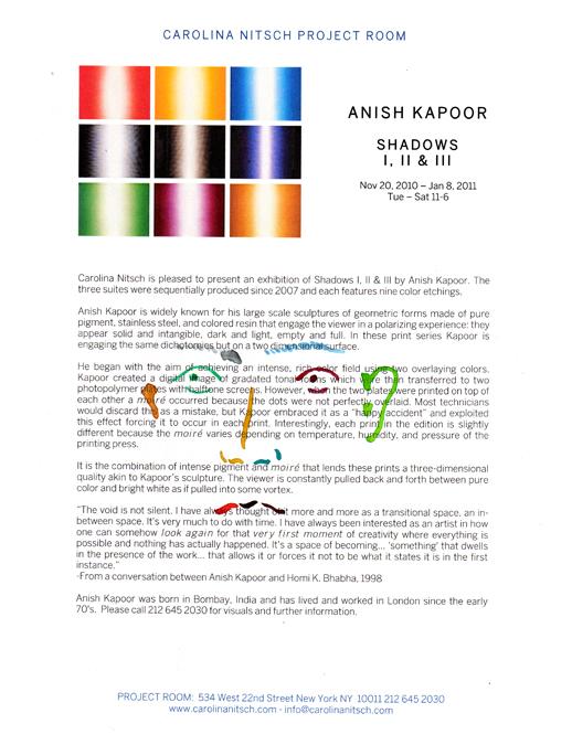 Anish Kapoor 'Shadows I, II, III' by Yumiko Furukawa