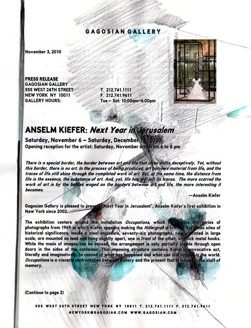Anselm Kiefer 'Next Year in Jerusalem' by Yumiko Furukawa
