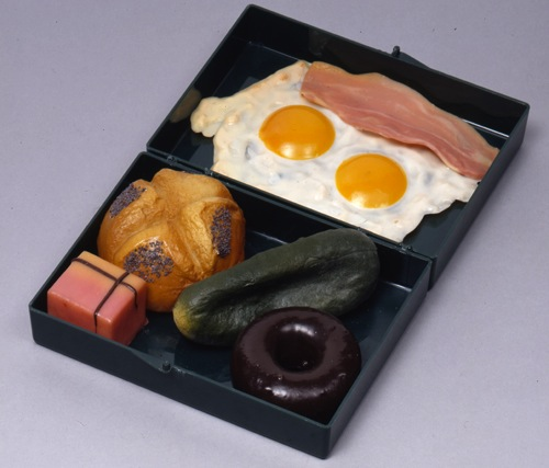 Claes Thure Oldenburg, 'False Food Prototype for Rubber Food Fluxkit,' 1966. Hood Museum of Art, Dartmouth College, George Maciunas Memorial Collection: Gift of Billie Maciunas.