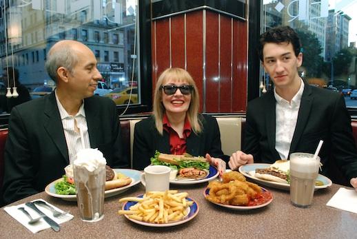 Sean Carrillo, Bibbe Hansen, and Derek Mega. Photograph: Veronica Ibarra.