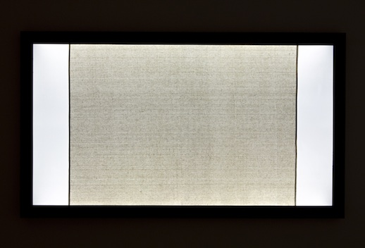 [Image: Siebren Versteeg Untitled (2011) light box and canvas 75 ¾ x 43 ½ in.]