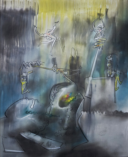 [Image: Roberto Matta 'Floatilege' oil on canvas (1962)]