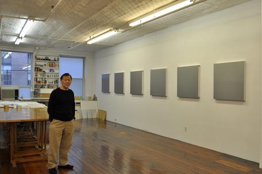 Tadaaki Kuwayama in his studio in Chelsea NY. Photo: Takayuki Fujii