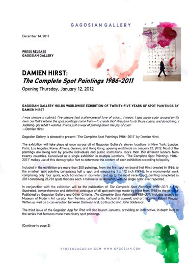 Damien Hirst exhibition press release drawing by Yumiko Furukawa