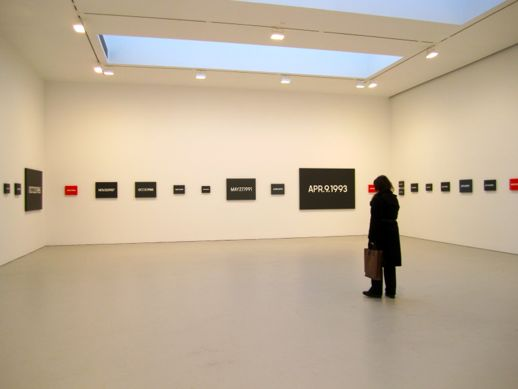 "On Kawara ""Date Painting(s)"" installation"