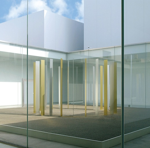 "Tadaaki Kuwayama 'Plan For Courtyard (Gold and Silver)' (2011) Exhibition view of ""Untitled: Tadaaki Kuwayama"" 2011, 21st Century Museum of Contemporary Art, Kanazawa. Courtesy: 21st Century Museum of Contemporary Art, Kanazawa"