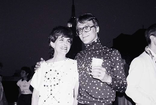 photo: Tom Warren 'Liz and Val' c.1984, rooftop, NYC, Chelsea or East Village