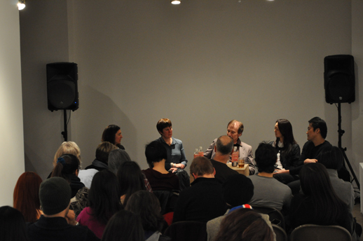 Panel Discussion: Allison Tolman, Richard Vine, Miwako Tezuka and Nao Matsumoto. Moderator: Susan Eisner Eley
