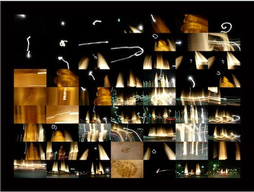 Taona Sonakul 'Fuzzy June' gouttelette on canvas, 36 x 50 2 1/2 in (2009)