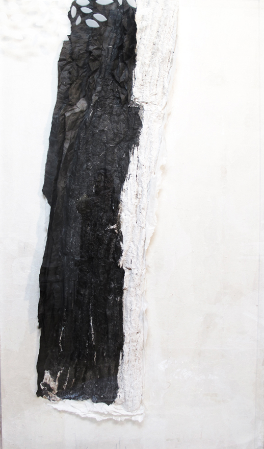 Lin Yan 'The Leaves are Gone' (2009) xuan paper, ink and plexiglass, 72 x 42 x 4 in.