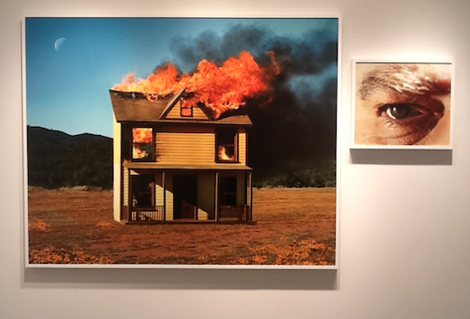 4:01pm, Sun Valley and Eye # 3 (House Fire), from the series Compulsion, 2012.