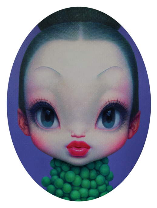 Zhijie Wang 'Little Girl No.10' 135 x 100cm, Acrylic on Canvas (2012) Courtesy of Elga Wimmer PCC