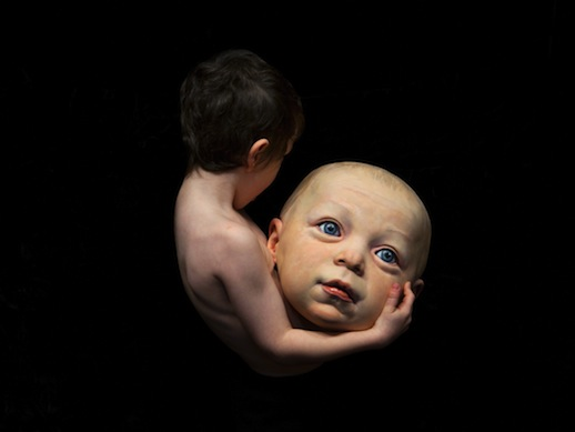Nina Levy - boy with baby head