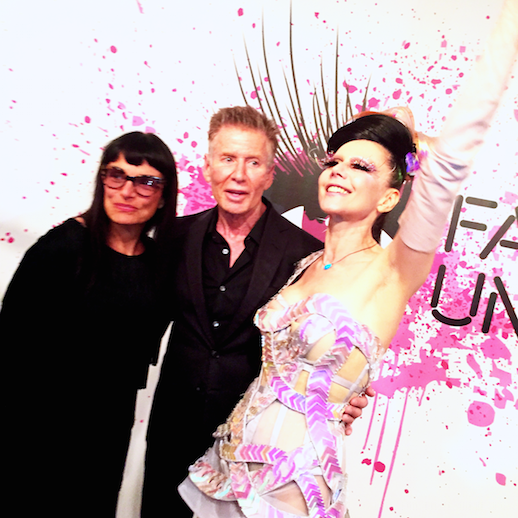 Norma Kamali, Calvin Klein, and Susanne Bartsch at the Museum at FIT. Photo: Gerry Visco.