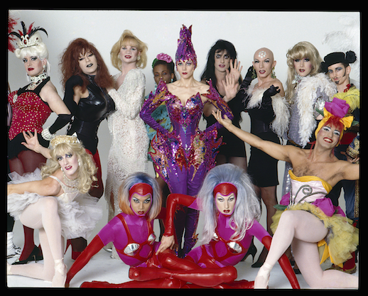 Susanne Bartsch and downtown performers and artists, 1991. Photo: Michael James O'Brien.
